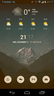 Current home screen with Twilight on
