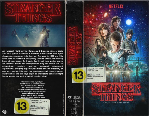 Illustrated VHS cover.