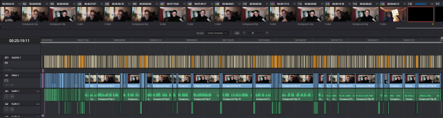 Screenshot of video editing screen