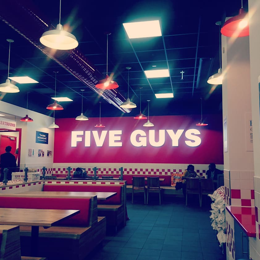 Inside Five Guys at Rotterdam Alexandrium