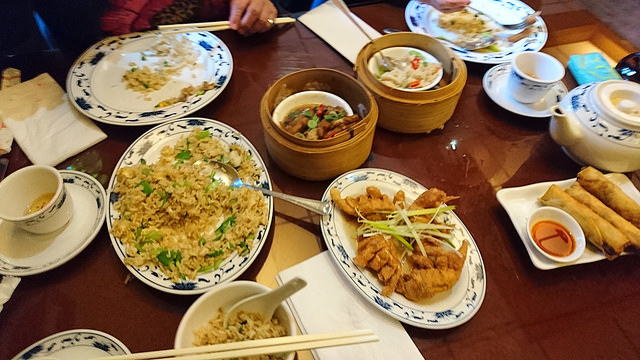 Dim Sums and fried rice